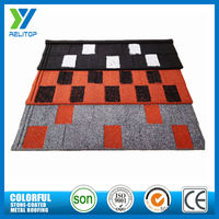 2.7kg/pcs eco-friendly stone roofing materials flat roofs