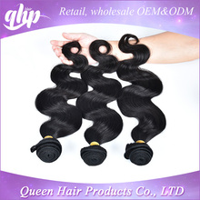 QHP no tangel no shed 6a 100 human hair extensions virgin Brazilian hair