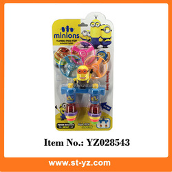 2015 toys for kids plastic spinning top light up spinning top minion spinning top toy minion toys spinning top