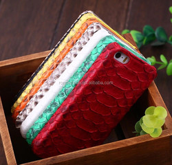 Customerized Luxury 100% Python leather case cover for iphone 5/5s Snakeskin phone case