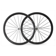 aero spoke bike wheelset 38mm clincher tubeless carbon rims