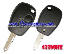 2 abotona llave alejada con el botón NE73 lámina redonda para Renault