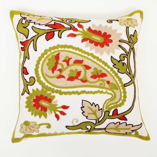 De lana hechos a mano bordado funda de coj n tapices - Cojines de lana hechos a mano ...