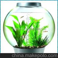 2015 fashion design clear acrylic globular aquarium fish tank hot selling