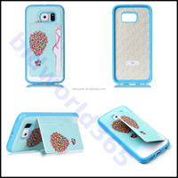 PU Leather TPU Card Slots Stand Flying Ballon Skin Case Cover For Various Phones