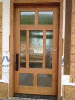 "SOLID WOOD CUSTOM 42"" X 96"" CONTEMPORY FRONT GLASS ENTRY DOOR"