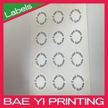 Peel fragile eggshell sticker for warranty or sercurity purpose