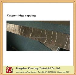 Copper asphalt shingle ridge capping factory