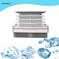 upright supermarket commercial round electric cooler