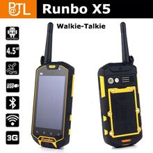 Runbo X5 Dual Core Dual Card 3G Android 4.0 GPS Walkie-Talky SOS functions unlocked rugged phones