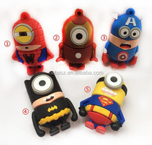 2014 New Hot cartoon one eye captain America, spiderman, superman,green lantern, batman usb flash drive memory stick pendrive