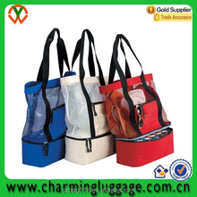 tote plastic transparent towel pvc beach bag 2015 with fitness can insulated cooler bag fabric