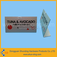 High quality etching and fill color alluminum nameplate
