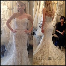 2015 Custom Alibaba Real Bridal Mermaid Pictures of Beautiful Wedding Gowns