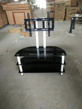 factory directly sale high quality modern design lcd tempered glass tv stand