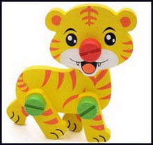 Creative new products wooden puzzle toy tiger