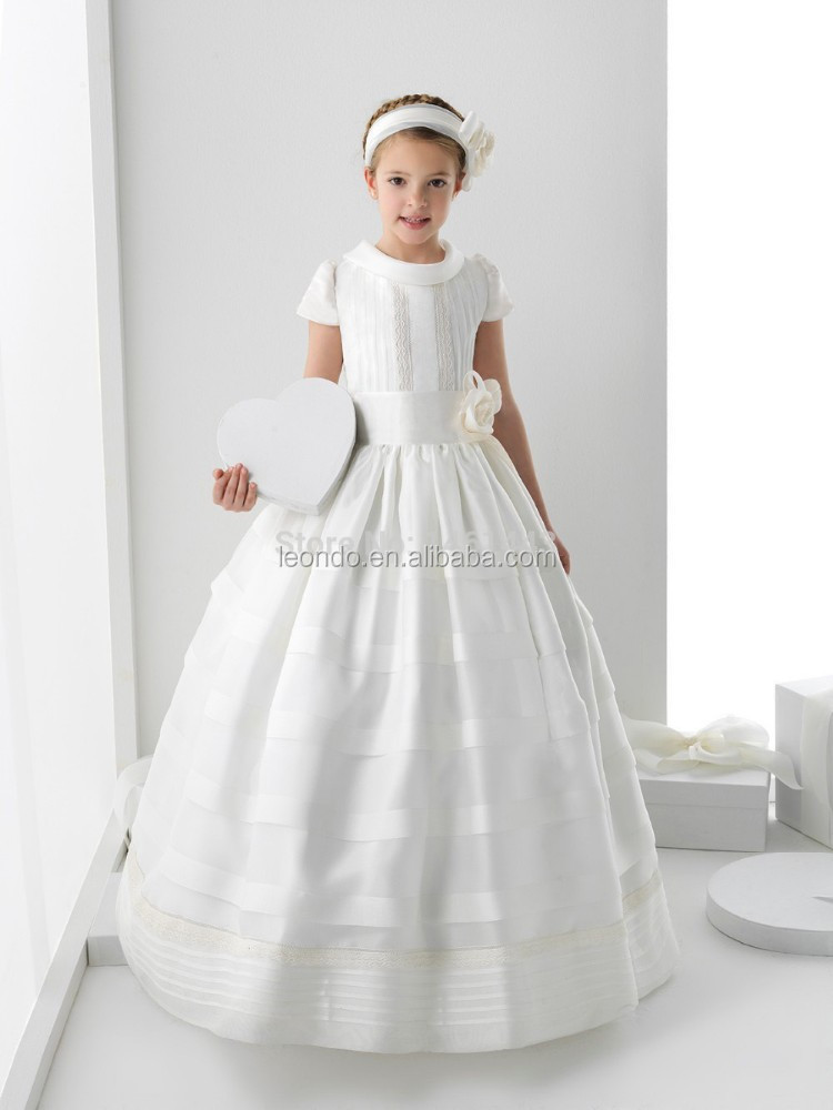 Party dress for 2 12 years old girls white flower girl for Dresses for 10 year olds for a wedding