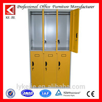 Knocked down marine blue 6 doors steel staff wardrobe locker clothes cabinet hotel furniture office