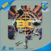 Custom anti-fake Holographic 3d laser Hologram eggshell sticker