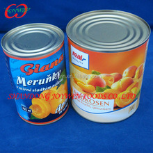 Canned fruit apricots 3100ml