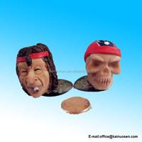 New Birthday Candle Holder or Cigarette Snuffer Flag Skull & Hippie