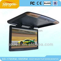 Super Slim 19Inch Flip Up Screen with Digital New Panel,HD image Car Roof Mounted Monitor