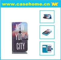 factory support diy printing wallet flip leather case for samsung galaxy note 2