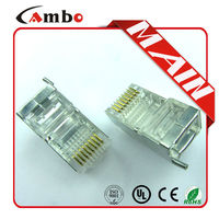 Cat5e CAT6 CAT7 Stranded Solid network cable 8P8C shielded Gold Plated rj45 to wireless