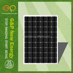 high efficient 140w 27v pv photovaltaic monocrystalline solar panel for sales