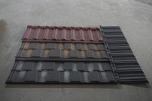 colorful basalt stone coated metal/steel/roofing tile for European style houses roofing 86- 18264998588