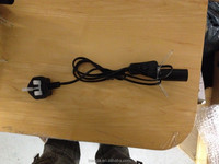 D09/303/E14 UK type salt lamp cords with 303 on/off switch and E14 lamp holder