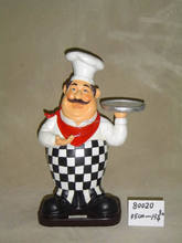 chinese restaurant decoration supply,Polyresin Chef figurine for Kitchen Decor, Cater Bistro Chef Figurines