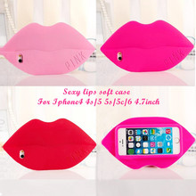 Victoria/'s Secret PINK Luxe Monroe sexy lips soft silicone case For iphone4 4s 5 5s/5c 6 4.7inch