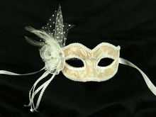 Fascinating dacing party yellow color with hard plastic lace mask
