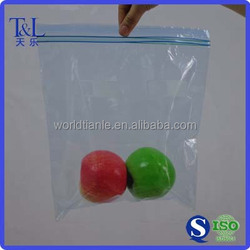 Double track zip loc bag made from food grade material for apple packing, double track zipper apple bag