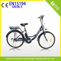 "24"" 36v lady city elektro bike with brushless motor and EN15194"