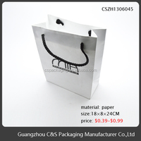 handmade small paper shopping bag packaging for cloth gift bag