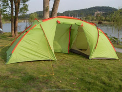 High quality large family camping tent, camping equipment for 5-6 person