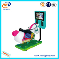3D Coin Operated Indoor Amusement Crazy Horse Racing Game Machine For Kids