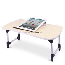 Foldable and portable laptop table with usb fans
