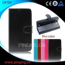 Mobile Phone Case For BLU DASH 5.5/D470A,Black Flip PU Leather Case for BLU D470A