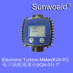"""DN25 G1"""" Plastic with display Electronic Turbine flow meter sensor for Chemicals measure volum"""