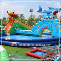 Underwater World water park inflatable, surfing amusement park for rental, home