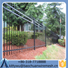 2016 hot sale high quality wrought iron fence& cheap metal fence& Standard steel fence