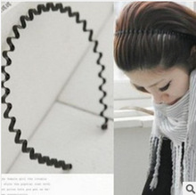 AliExpress explosion models * Ultra-popular hair ornaments, wrought iron black iron teeth wavy hair bands hair headband instant