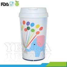 Free samples available ! 16 OZ custom printed wholesales , double wall plastic starbucks mug , promotion mug cup