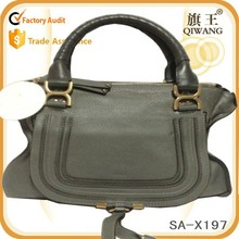 latest fashion retro tote bag unique design genuine leather women bag for 2015