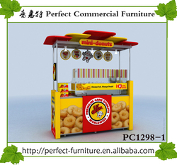 CE certificate bike food grilling cart hot food donut vending cycle cart and trolley