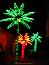 Artificial Beautiful decoration High quality led Coconut palm Tree Light Recycled Decoration Tree Led Festival Lights