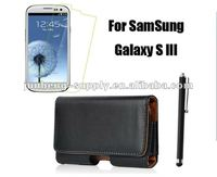 3in1 Leather Belt Clip Case Cover LED Film Stylus For SamSung Galaxy S3 GT-i9300